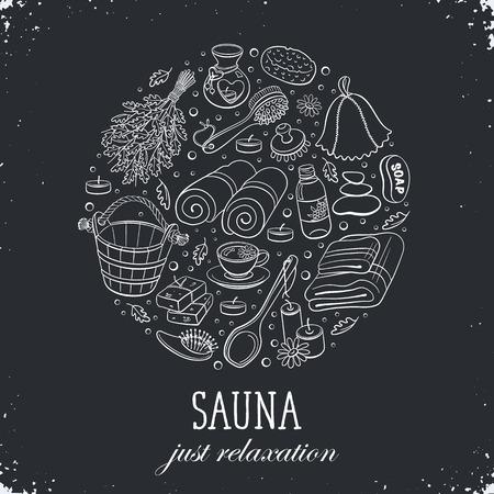 flip flops: Sauna relaxation poster.