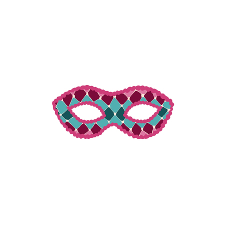 Hand drawn carnival vector mask isolated on white background. Masqeurade mask for decorating festive invitations, banners, greeting cards. Carnival accessory illustration.