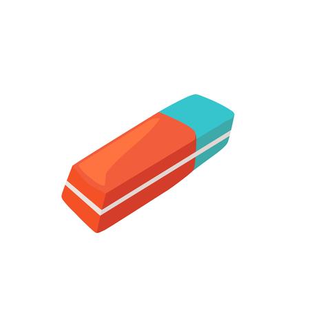 Hand drawn eraser isolated on white background. Vector illustration. Ilustração Vetorial