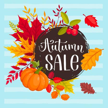 autumn sale design Ilustração