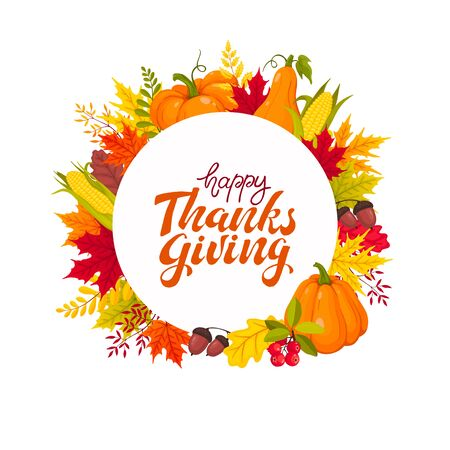 thanksgiving greeting card Stock Vector - 129758705