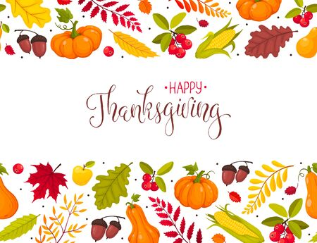 thanksgiving greeting card Stock Vector - 129758707
