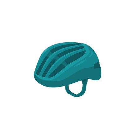 Vector llustration of sport helmet. Colorful bicycle helmet isolated on white background.