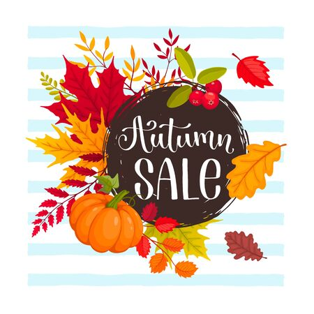 autumn sale design Иллюстрация