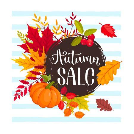 autumn sale design Illustration