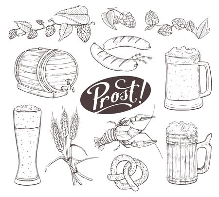 Beer Sketches Isolated