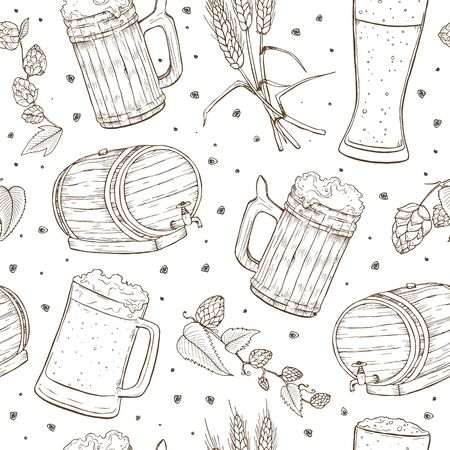 beer seamless pattern Иллюстрация