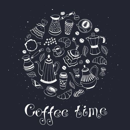 Coffee time poster Ilustracja