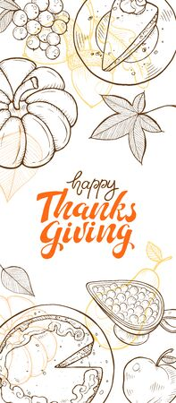 Thanksgiving vintage poster vector