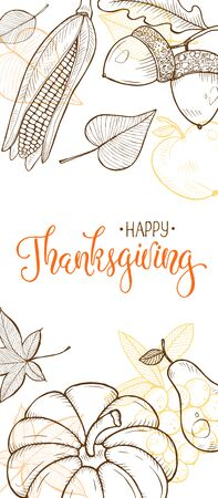 Thanksgiving vintage poster vector Stock Vector - 129759739
