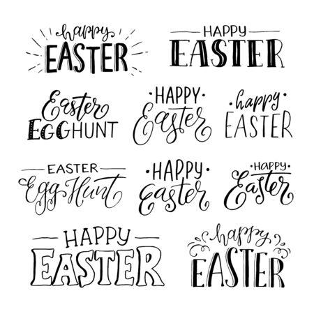 Frohe Ostern Sätze Vektorgrafik