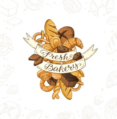 Fresh Bread Poster Vector Ilustration