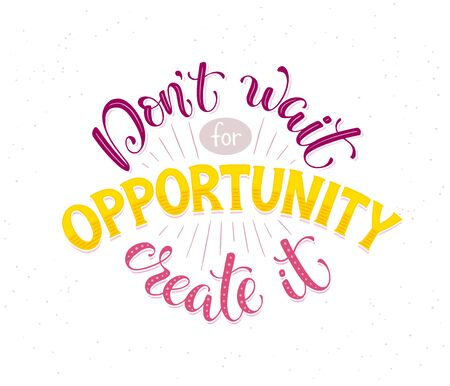motivational poster about opportunity