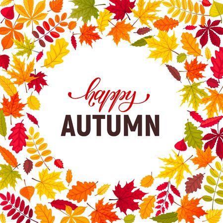 composición de hojas de otoño