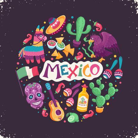 Mexico poster vector Vector Illustration
