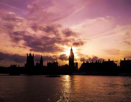 purple sunset: Purple sunset behind Big Ben