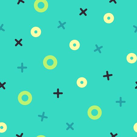 Tick ??tack toe abstract flat vector seamless pattern