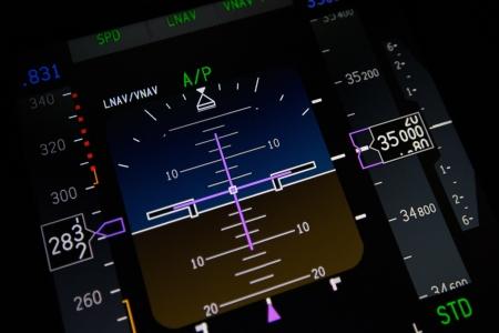 民間航空機の主要飛行ディスプレイ 写真素材