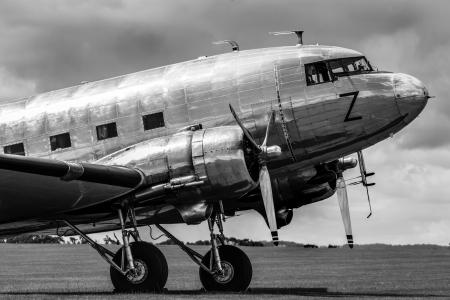 ビンテージの旅客機 写真素材