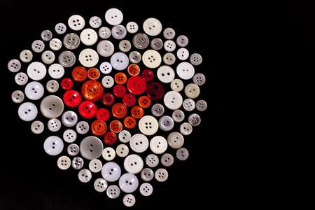 Colorful buttons in shape of heart Stock Photo