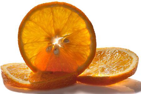 Isolated orange slices