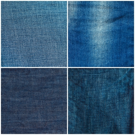 Set of jeans texture backgrounds photo