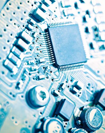 Computer electronic circuit board background
