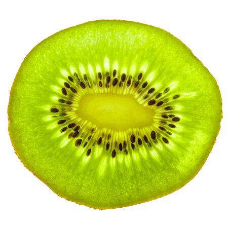 circle shape: Isolated kiwi fruit slice