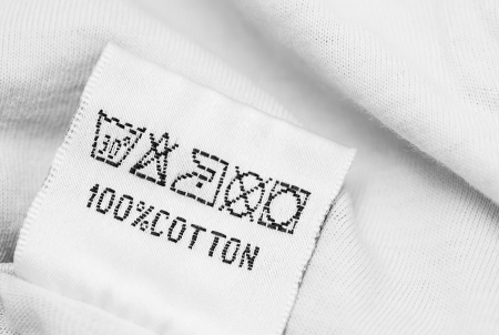 guideline: Clothing label with  laundry care instructions