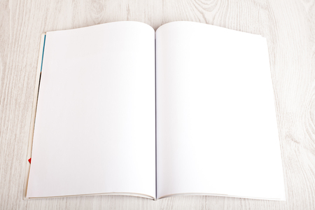Open magazine with blank pages