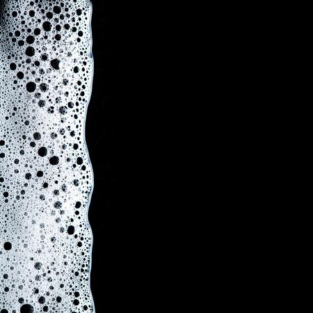Foam bubbles abstract dark background