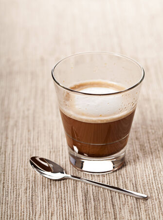 Cortado cappucino hot coffee drink in glass Stock Photo