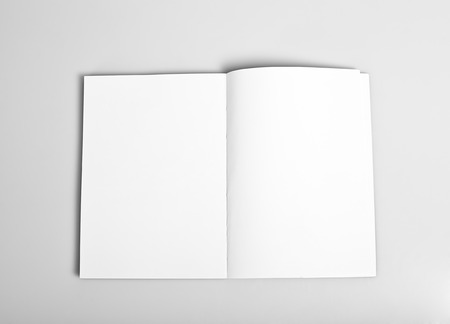 Open magazine with blank white pages mockup Stock fotó - 29538551