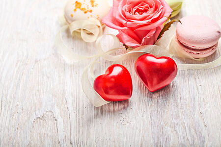 Hears and sweets valentine light  background Stock Photo