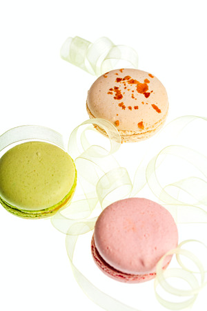 Macaroon sweets isolated  romantic background Stock Photo