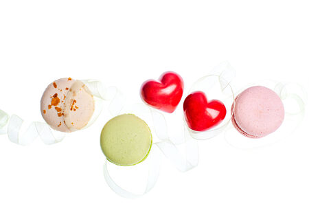 Hears and sweets isolated border background