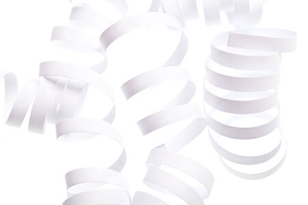 Curl white ribbon isolated abstract isolated background Stock Photo