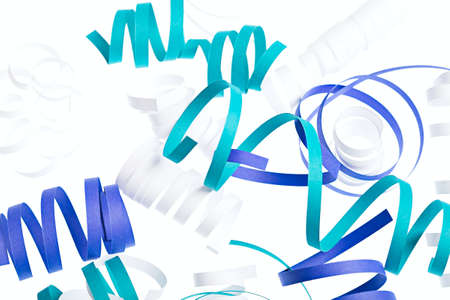 Curl blue ribbon isolated abstract isolated background Stock Photo