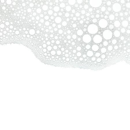 Foam bubbles abstract white border