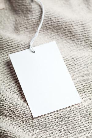 Cloth label tag blank white mockup Stock Photo