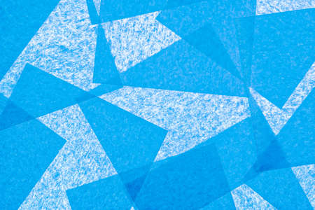 Blue paper squares abstract texture background