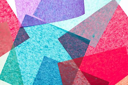 Multicolor paper squares abstract texture background Stock Photo