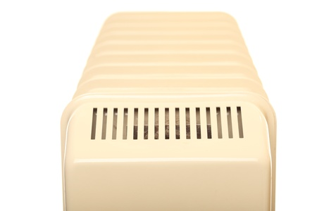 Oil radiator isolated  - Heatings on a white background  photo