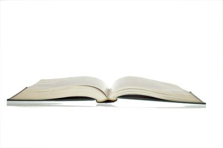 copertine libri: Libro aperto isolata on White  Archivio Fotografico