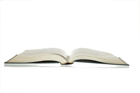 book binding: Open book isolated on White