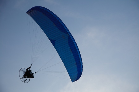 airfoil: Paraglider - Feeling free on the sky  Stock Photo