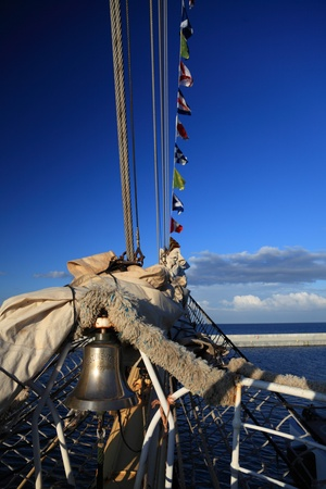 Old Ship tackles on the frigate photo