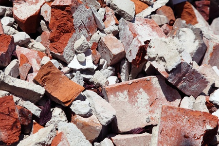 rubble: close up of an old pile of bricks