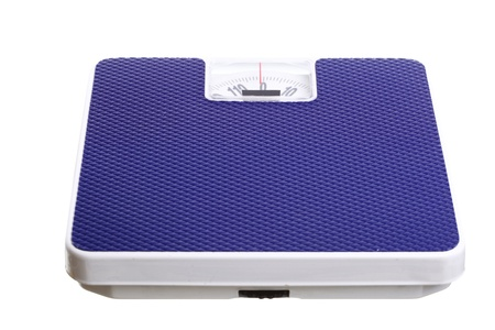 bathroom scale: Bathroom weight scale isolated on white background Dieting concept