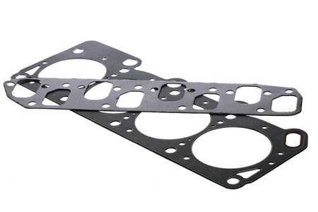 Cylinder head gasket isolated on white background photo